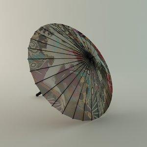 3ds max chinese umbrella