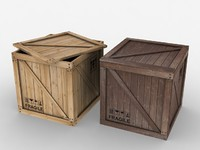 Wooden Crate - box container