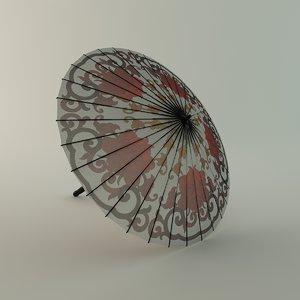3d chinese umbrella