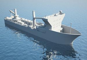 3d model industrial ship