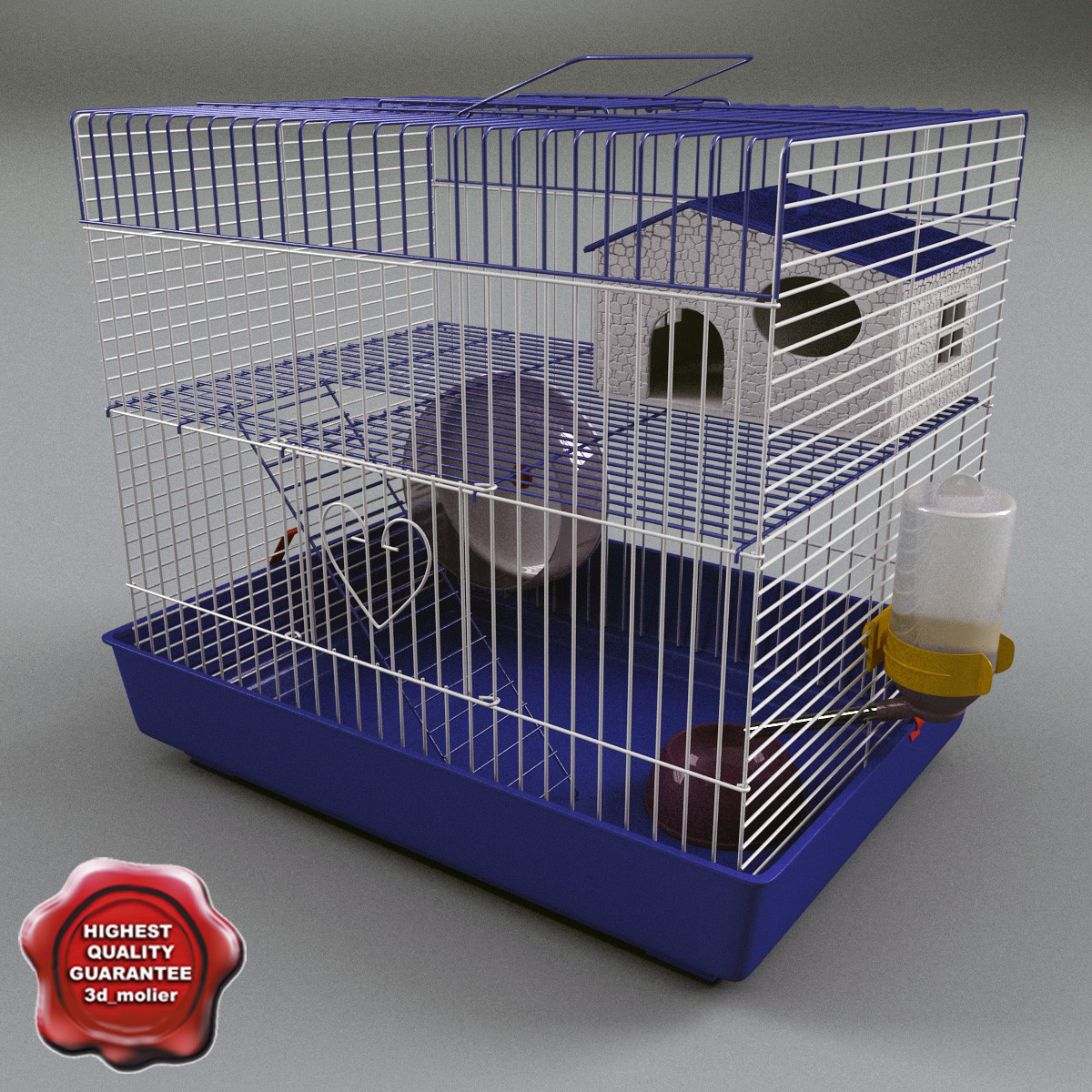 animal cage small 3d max