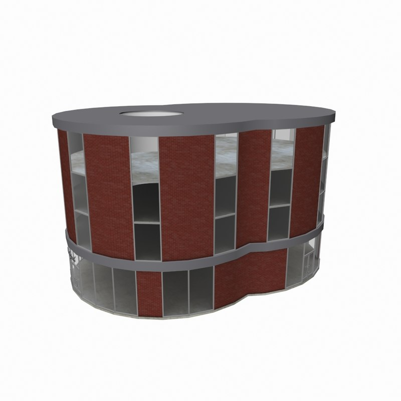 residential office building 3d model