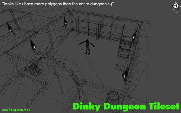 3d dinky dungeon tileset tile