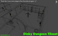 Dinky Dungeon Tileset (indie)