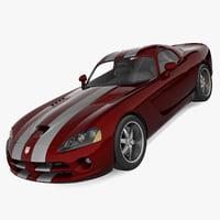 3d 3ds realistic dodge viper
