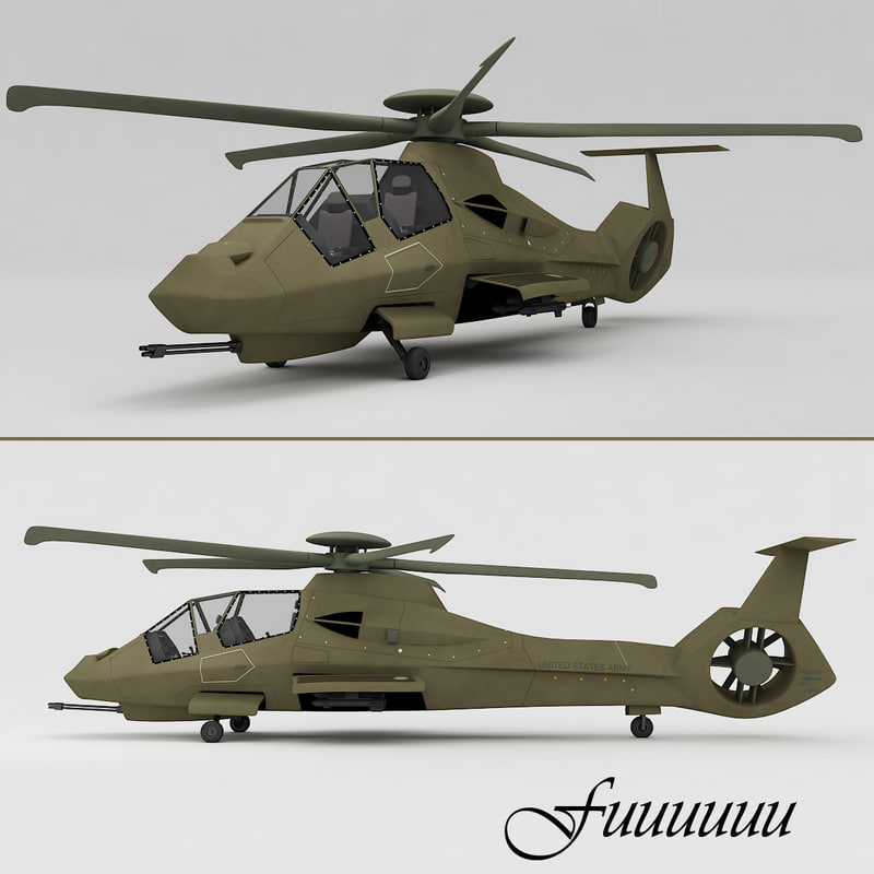 3d rah-66 comanche helicopter model