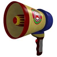 3d model megaphone