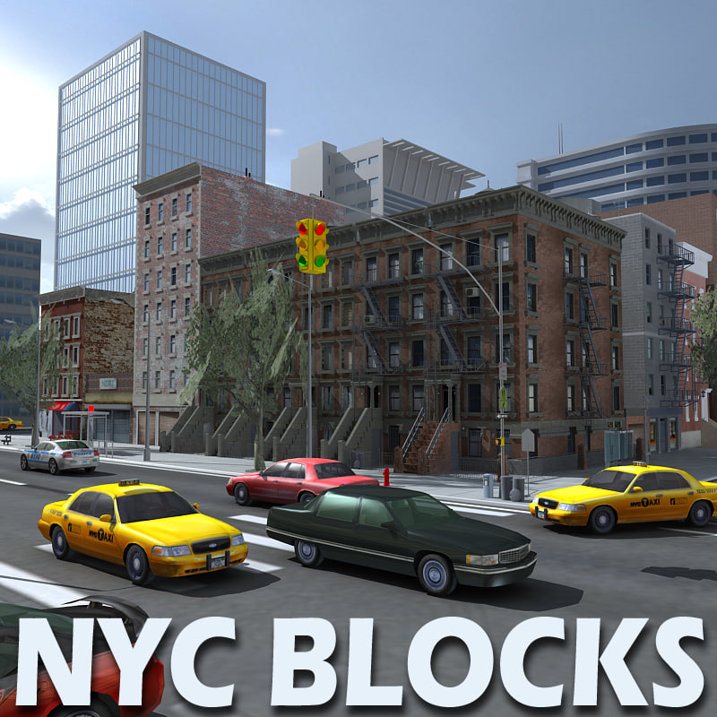 3d model new york city blocks