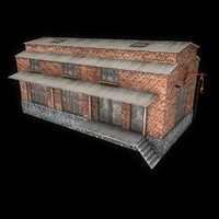 3d model old warehouse