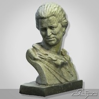 sculpture woman bust 1 max