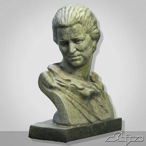 sculpture woman bust 1 3d model