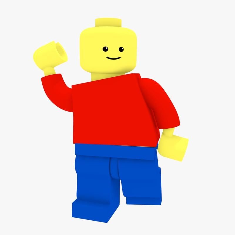 lego minifigure brick figure 3d model