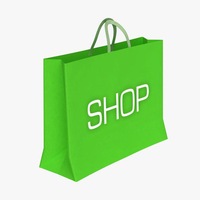 paper shopping bag 3d model