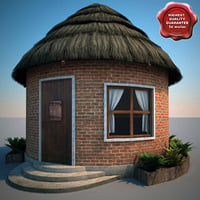 Thatch Roofed House