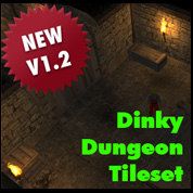 3d dinky dungeon tileset tile