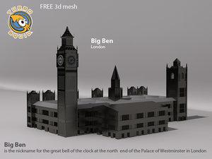 free big ben 3d model