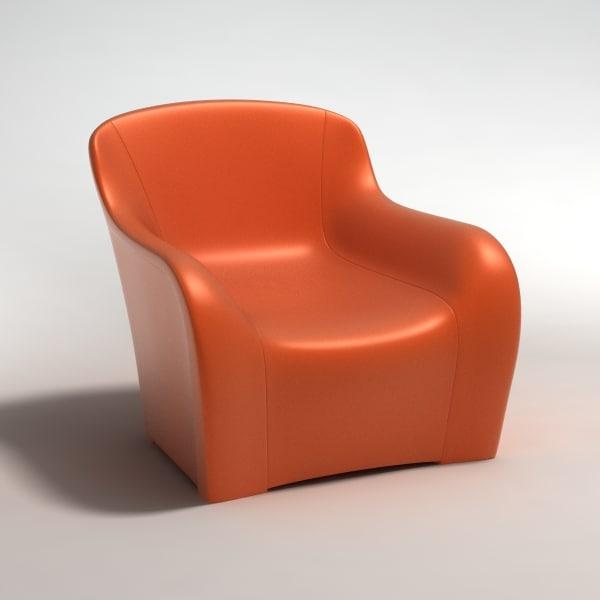 3d model realistic armchair