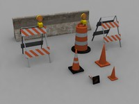 road barrier pack 3ds