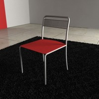 chair steel materials 3d model