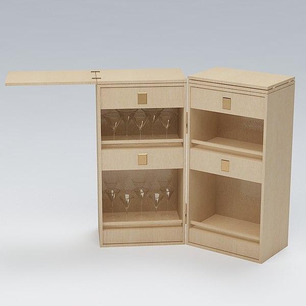 3dsmax cabinet bar