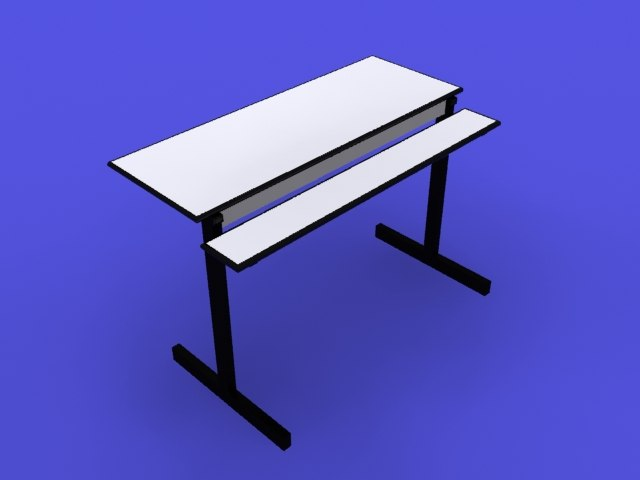 free computer desk 3d model