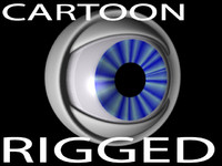 3d rigged cartoon eyeball model