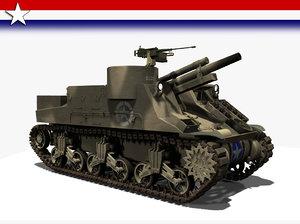 3d model artillery m7