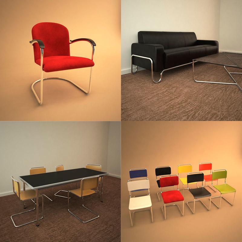 3ds furniture gispen
