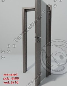 3d model of door porta space