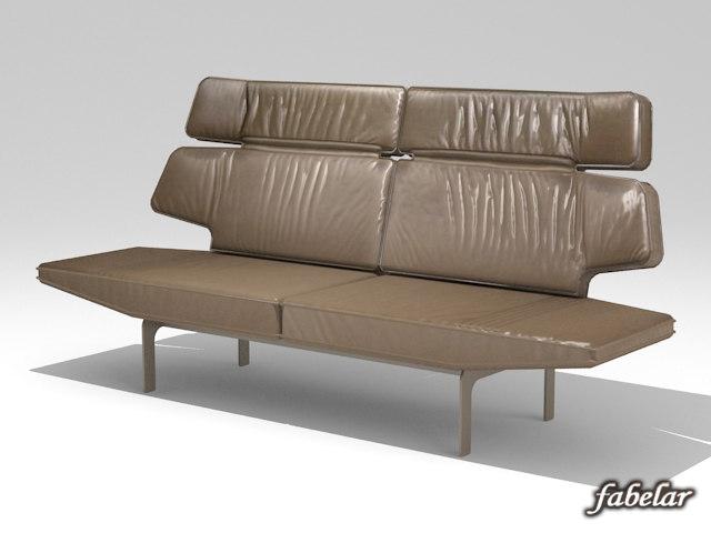 leather sofa 3d c4d