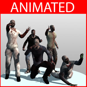 zombie biped animation 3d model