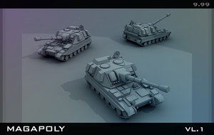 3ds max tank armored howitzer