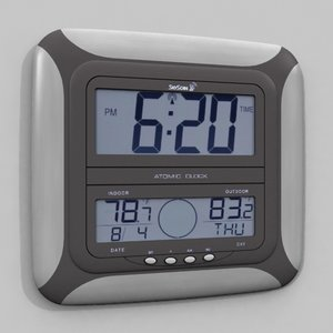 atomic wall clock 3d max