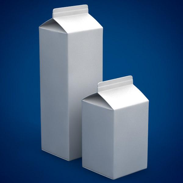 milk box 3d fbx