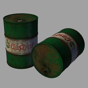 oil drum 3d obj