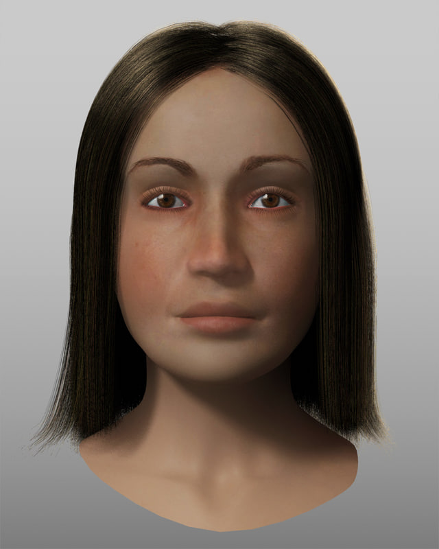 womans head 3d model