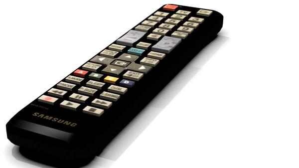 free samsung tv remote control 3d model