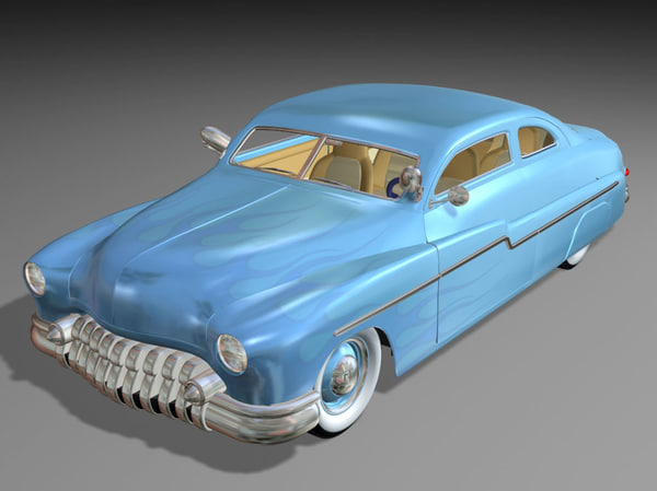 3d classic car leadsled model