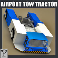 3d airport tow tractor model