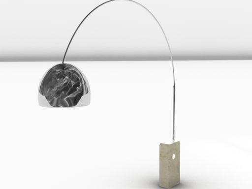 3d arco lamp