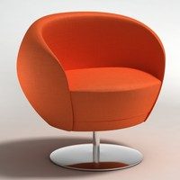 3d model realistic armchair