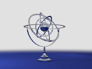 free fbx mode armillary sphere