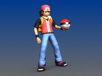 Ash with Backpack and Poke Ball -  Pokemon Character