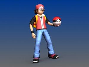 3d ash pokemon backpack poke