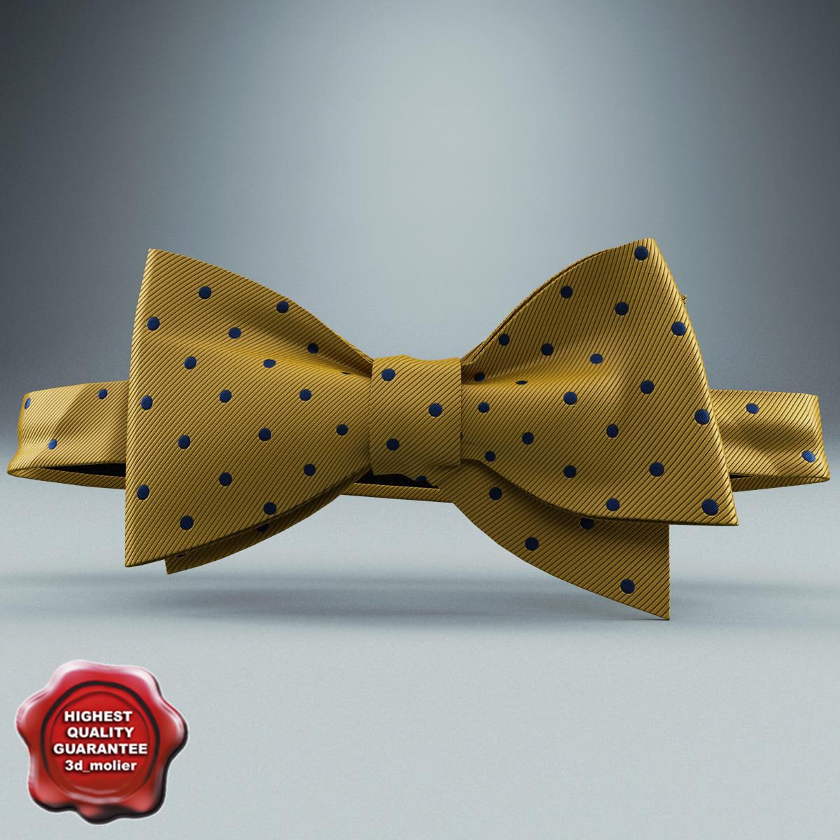 bow tie yellow 3d model