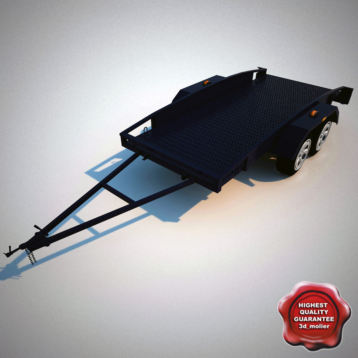 3d car trailer model