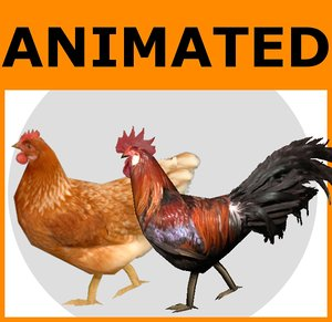 x ready chicken animations rooster