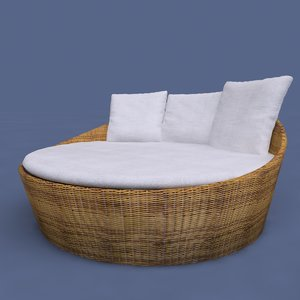 obj circular bed