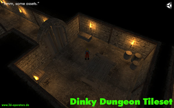 3d dinky dungeon tileset tile model