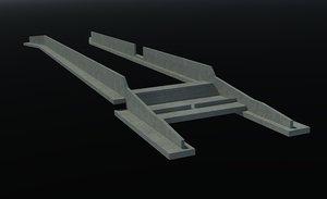 3d drop structure model